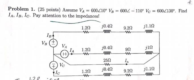 Vb Jl solved problem 1 25 points assume va 600210 vb 600 1