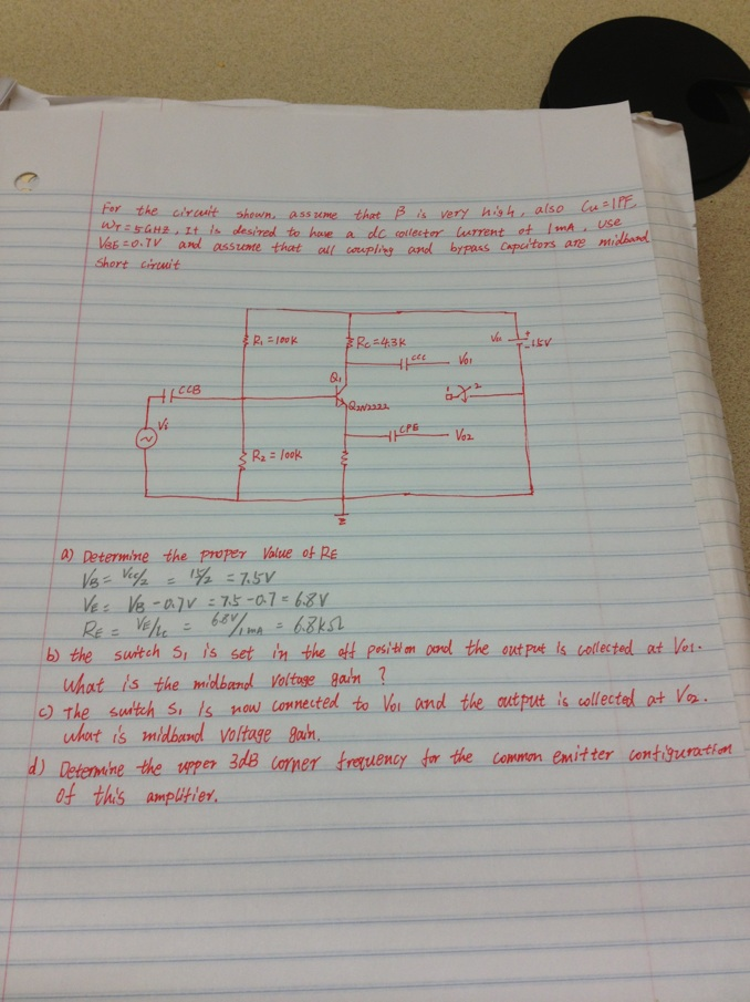 This is a microelectronics problem, &
