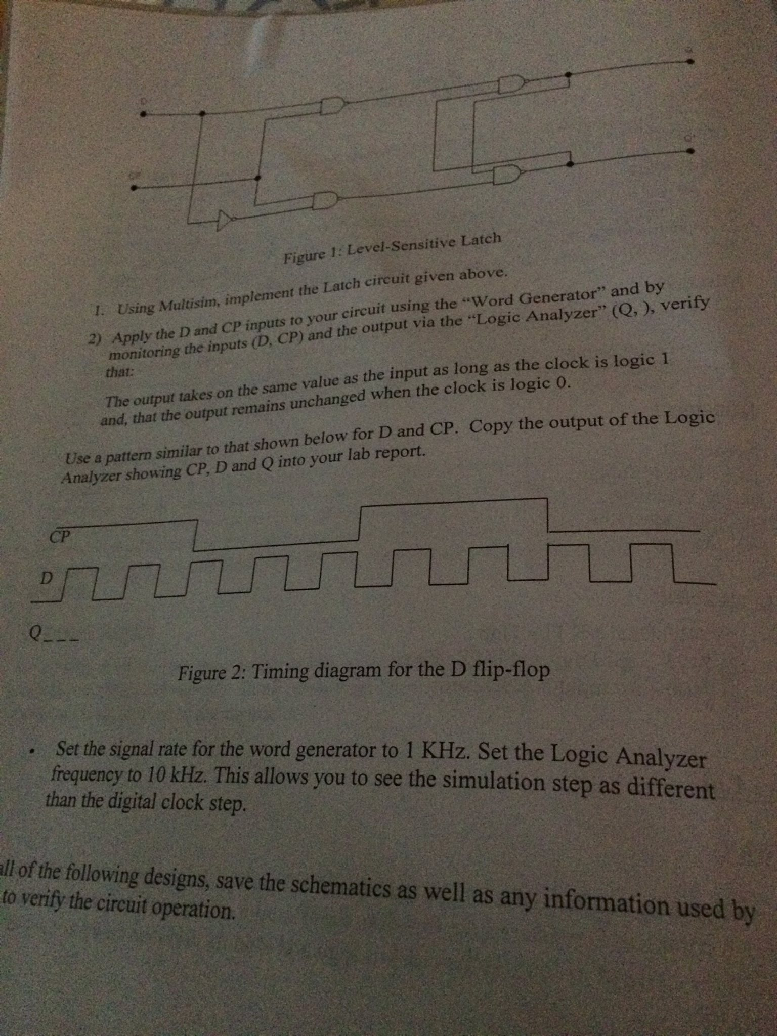Solved Hey Guys I Was Wondering How Do Apply D And C In Logic Analyzer Diagram Can Someone Explain To Me What Step By For The Picture Below Dont Know This Is Multisim Image