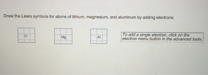 Solved Draw The Lewis Symbols For Atoms Of Lithium Magne