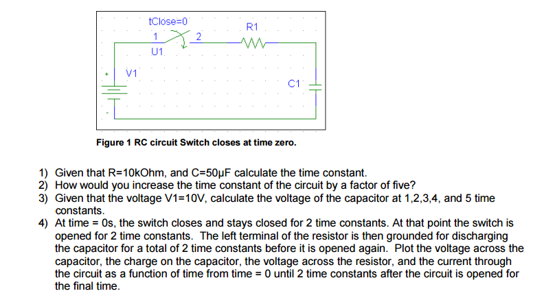 What is the value of the time constant mastering physics