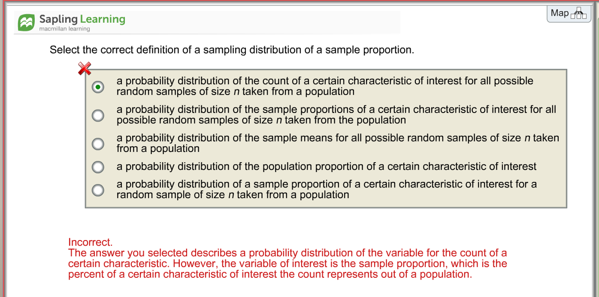 Solved: Select The Correct Definition Of A Sampling Distri