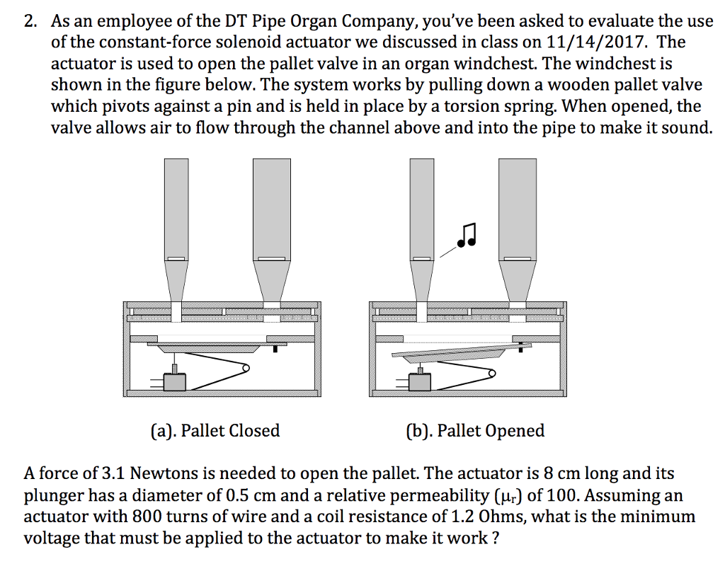 Solved: 2  As An Employee Of The DT Pipe Organ Company, Yo