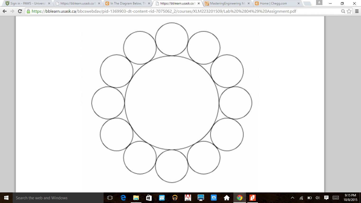 Solved: In The Diagram Below, The Small Circles Are All Ta