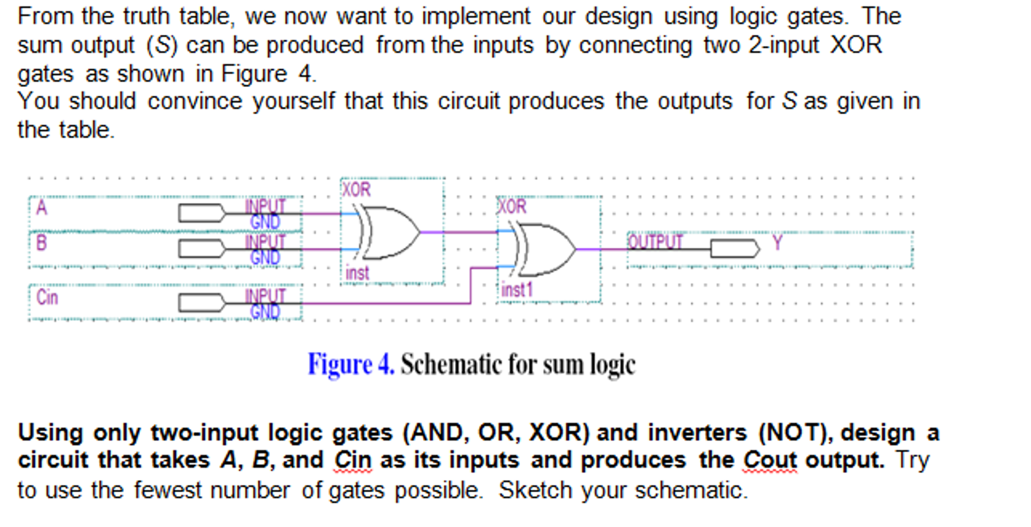 Solved Digital Circuits Sketch A Full Adder Partiall Circuit And Logic Design Thanks In Advance
