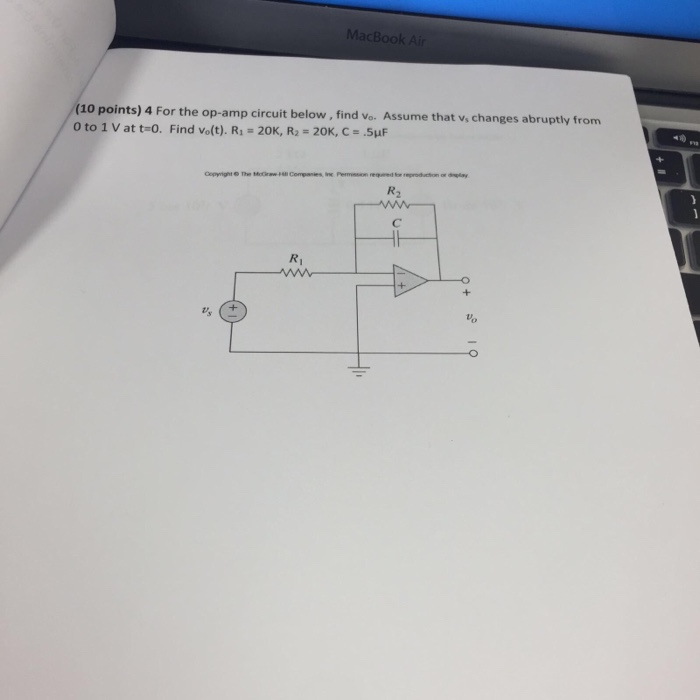 Solved: MacBook (10 Points) 4 0 To 1 V At T-o. For The Op ... on sub pump diagram, subwoofer diagram, sub flooring diagram, power diagram, sub controller diagram, radio diagram, sub assembly diagram, sub control diagram, dual voice coil speaker diagram, amp diagram,