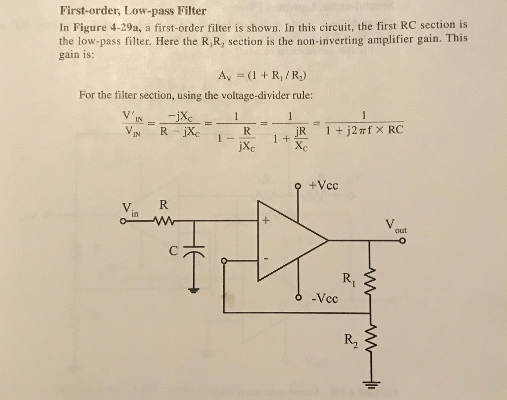 First Order Rc Filter Lowpass Circuit Solved For The Low Pass Shown In Figu Figure 4 29a A