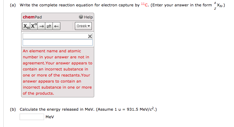 Solved A Write The Complete Reaction Equation For Electr