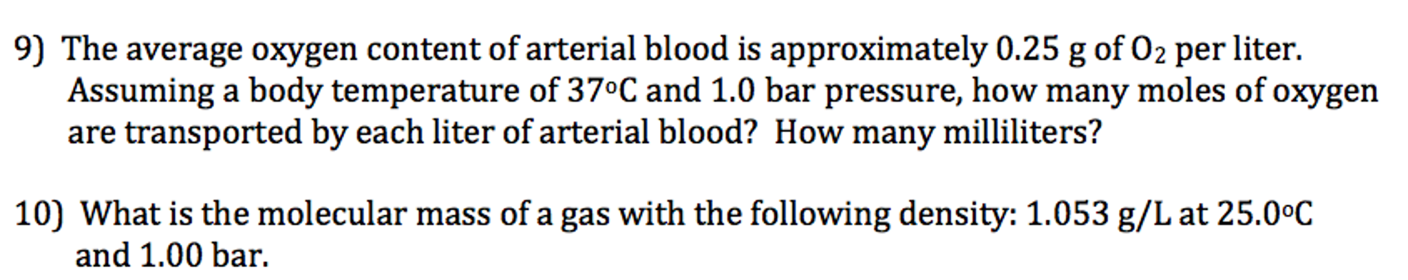 Solved: The Average Oxygen Content Of Arterial Blood Is Ap