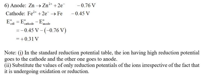 Solved Use The Table Of Standard Reduction Potentials In