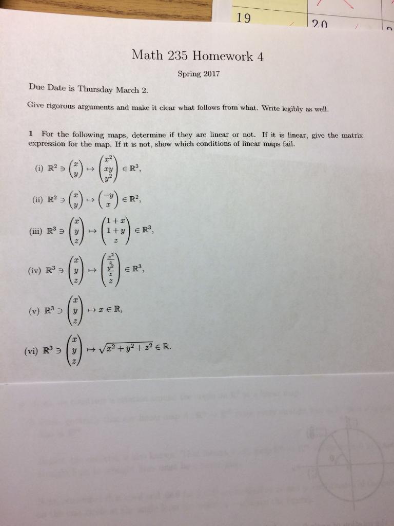 19 20 Math 235 Homework 4 Spring