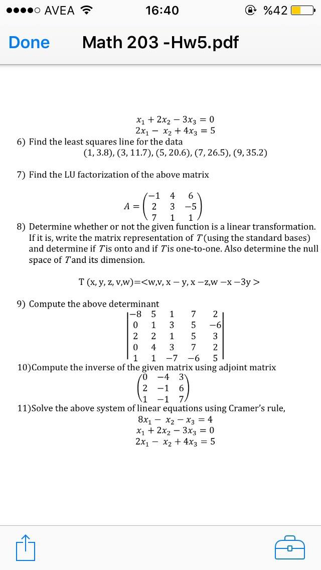 Solved: Find The Least Squares Line For The Data (1, 3 8