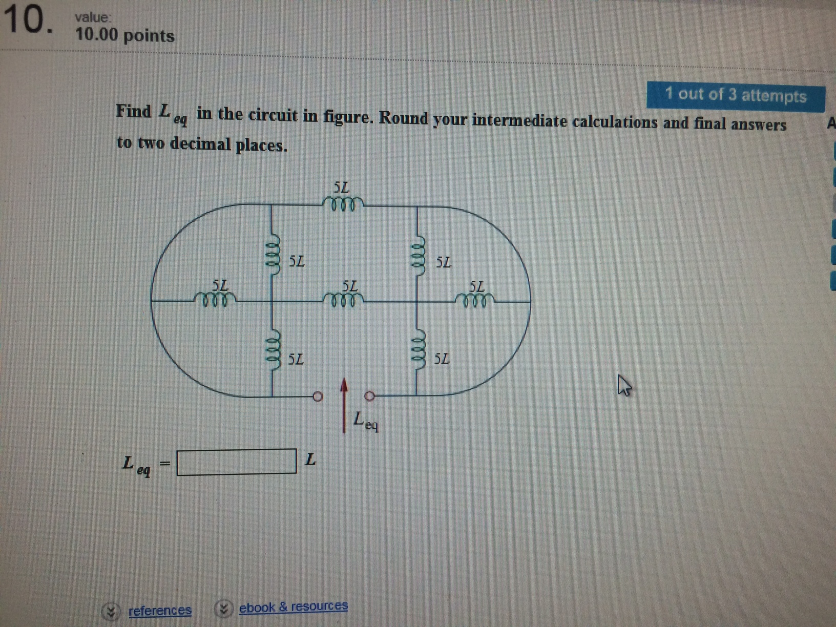 Electrical engineering archive march 23 2015 chegg image for find l eq in the circuit in figure round your intermediate calculations and fandeluxe