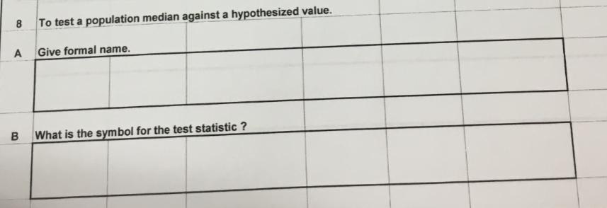 Solved 8 To Test A Population Median Against A Hypothesiz
