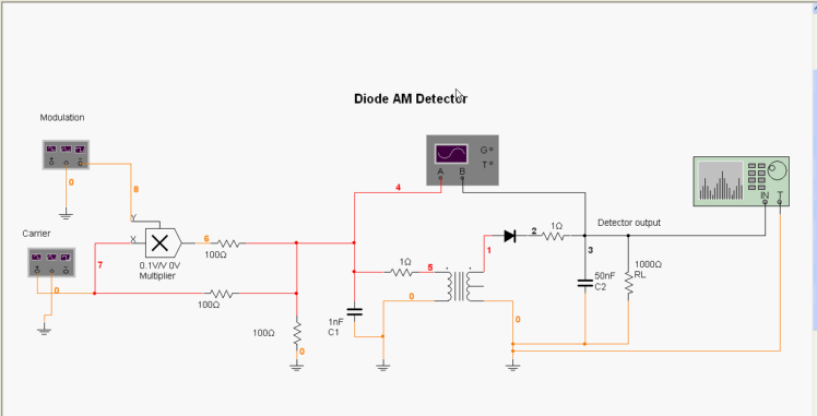 Solved: Construct The Diode Detector Circuit Presented In