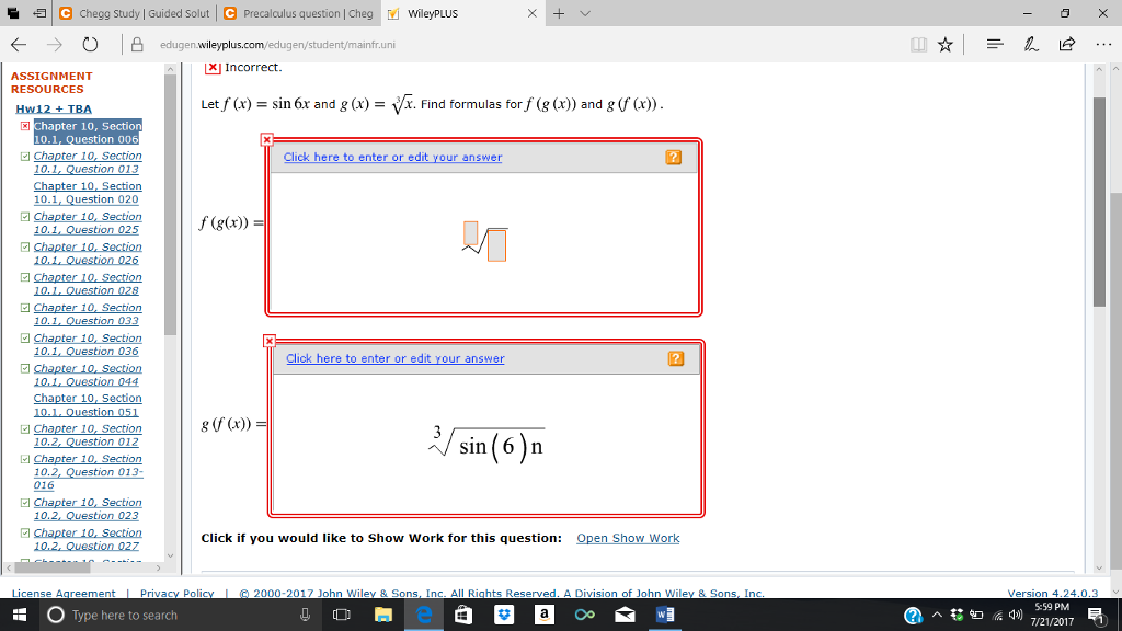Solved: C Chegg Study | Guided Solut C Precalculus Questio