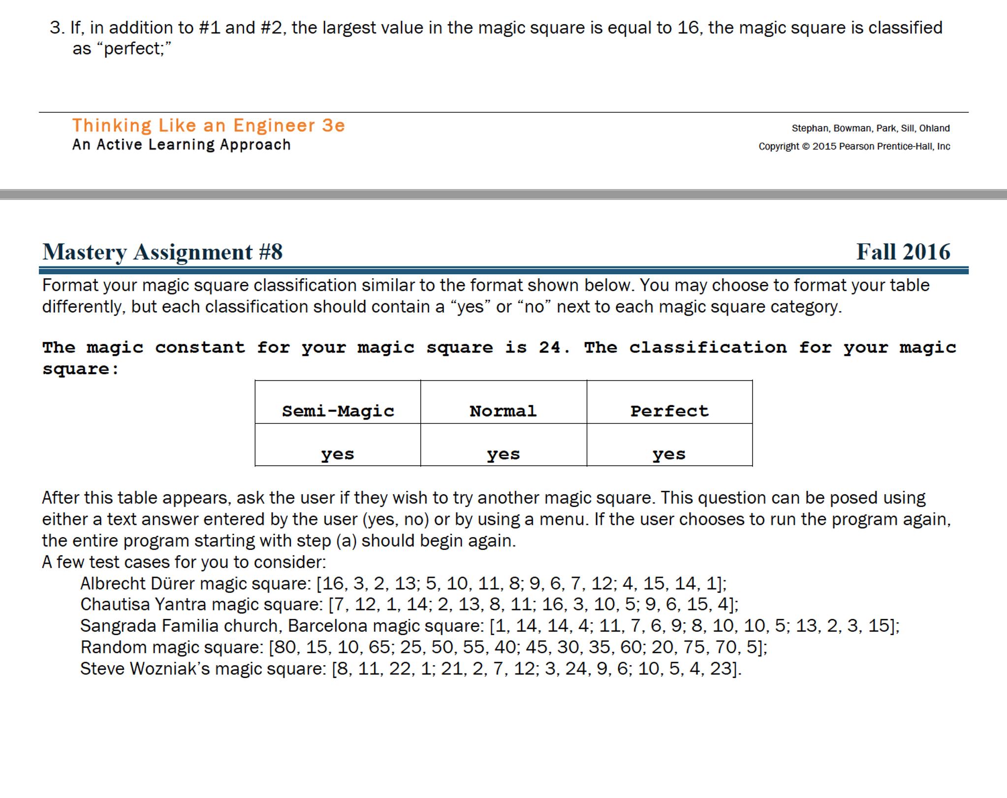 Magic Square 4x4 Solver