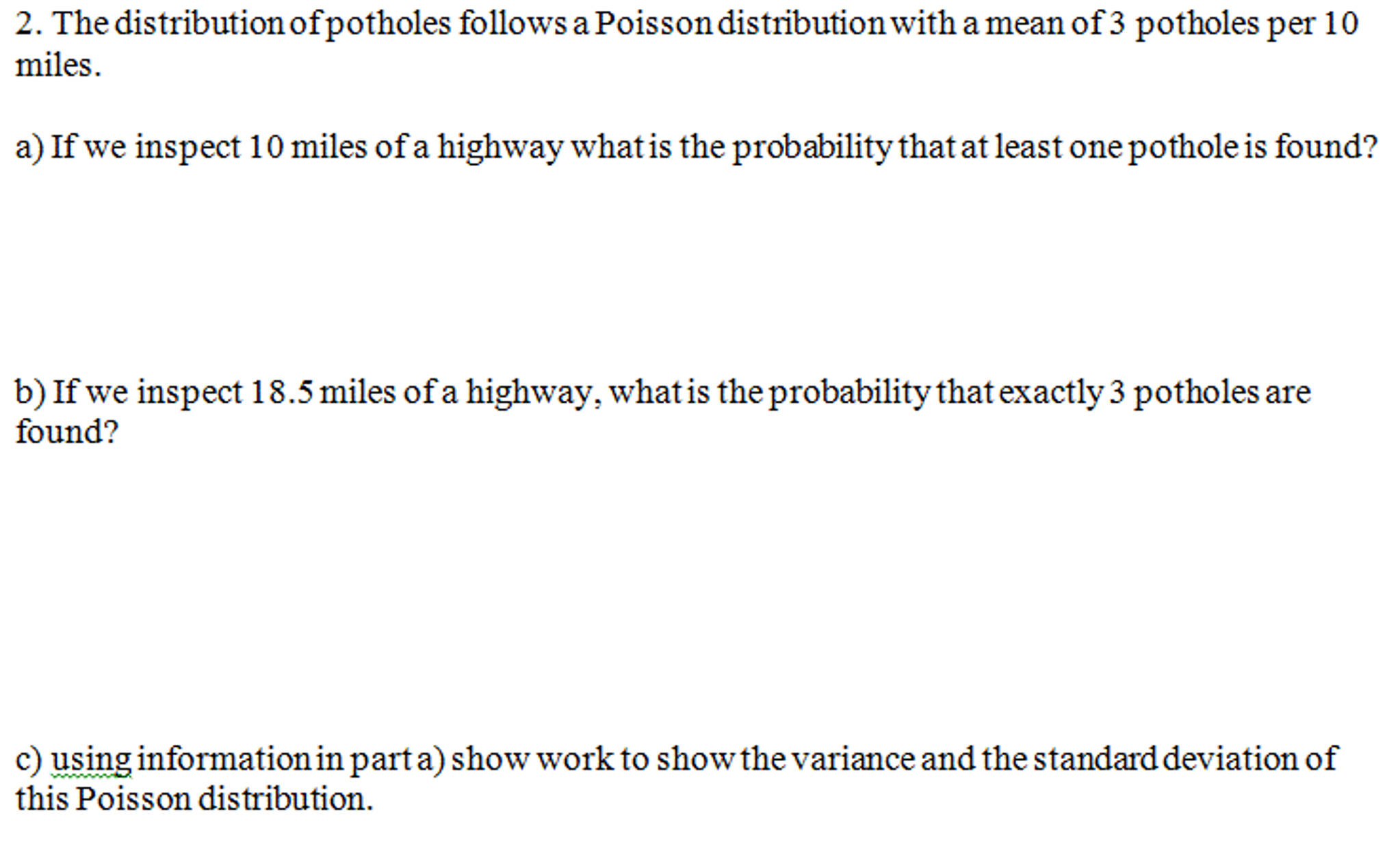 The Distribution Of Potholes Follows A Poisson Dis Tutorial 07_sampling  Methods & Clt Standard Deviation Mean How To Find