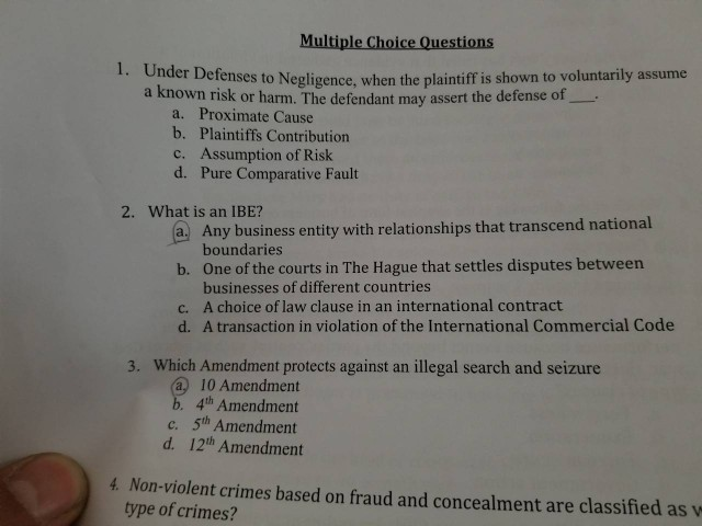 Solved: Multiple Choice Questions 1  Under Defense S To Ne