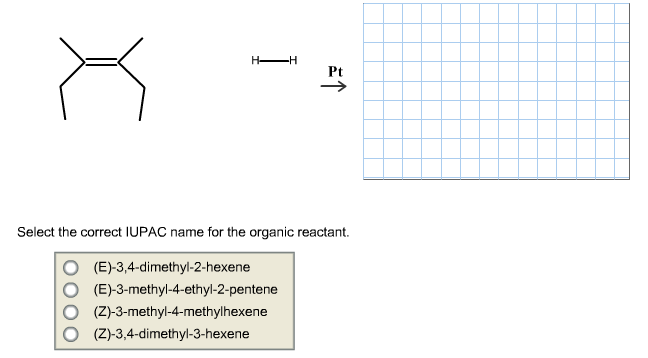 Solved: For The Following Hydrogenation Reaction, Draw The ...