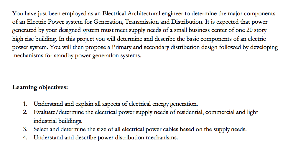 Solved: You Have Just Been Employed As An Electrical Archi ...