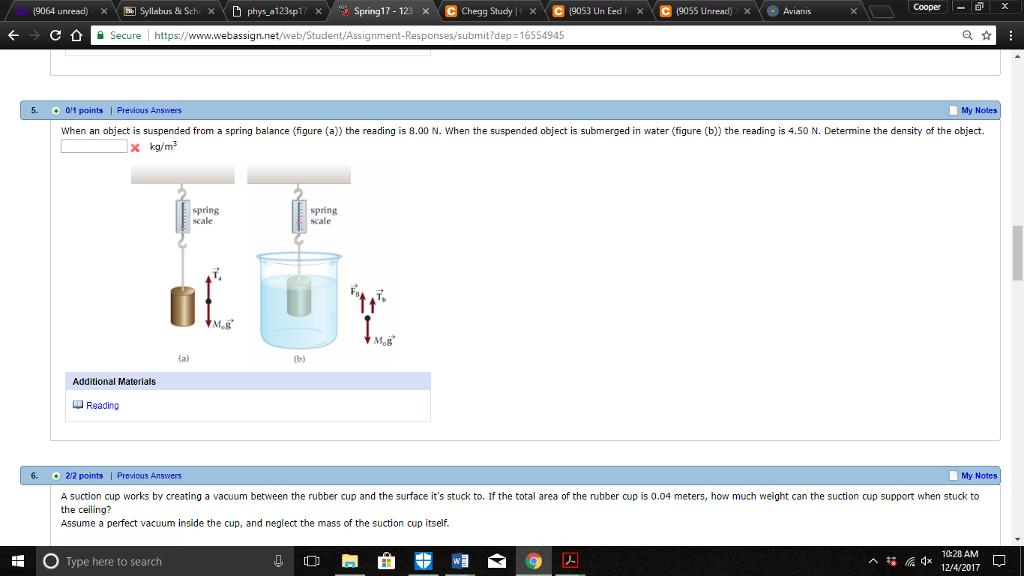 Solved: (9064 Unread) Syllabus & Sch X D Phys Al 23sp17 X