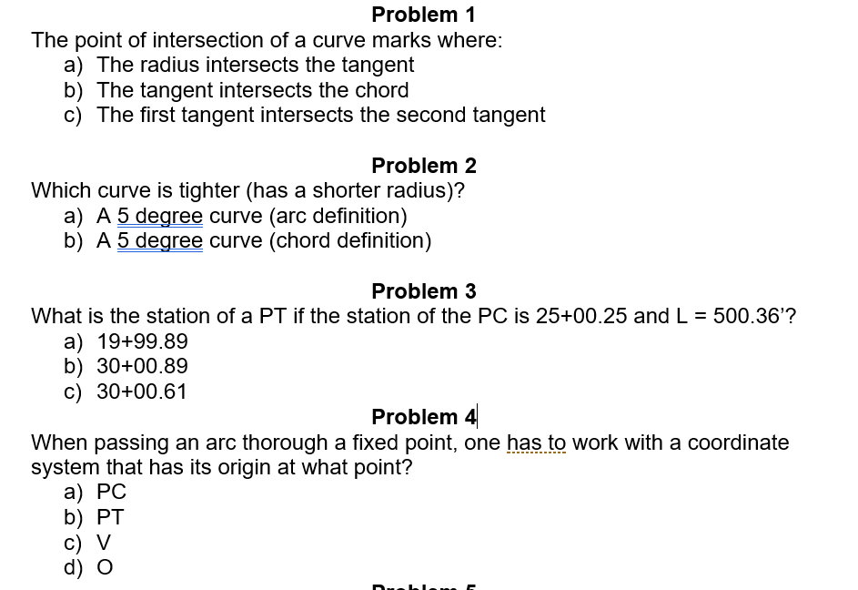 Solved Problem1 The Point Of Intersection Of A Curve Mark