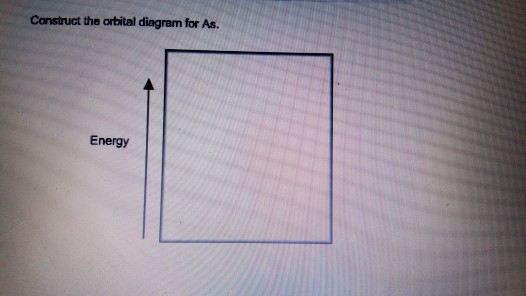 Solved Construct The Orbital Diagram For As Energy Chegg