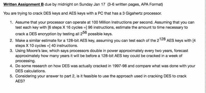 You are trying to crack DES keys and AES keys wi