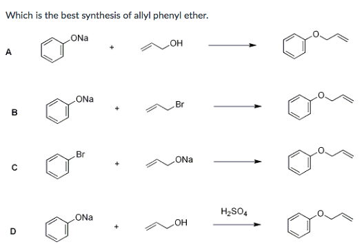 Solved: Which Is The Best Synthesis Of Allyl Phenyl Ether