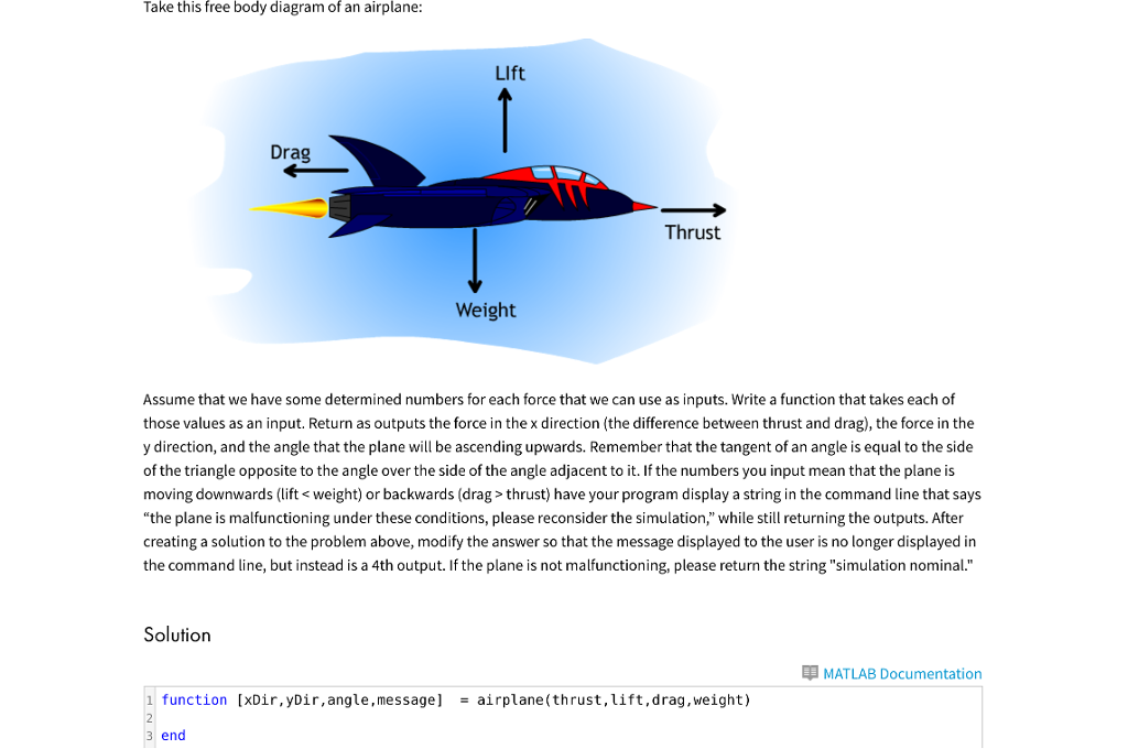 Phenomenal Solved Take This Free Body Diagram Of An Airplane Assume Wiring 101 Capemaxxcnl