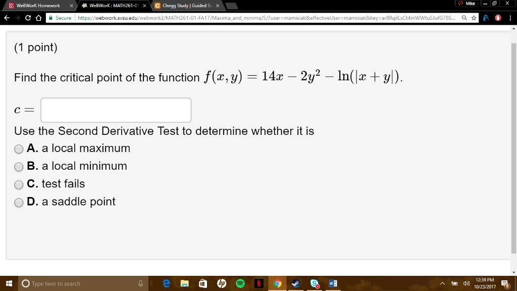 Solved: 鉆WeBWorK Homework © Chegg Study | Guided S: Mlike