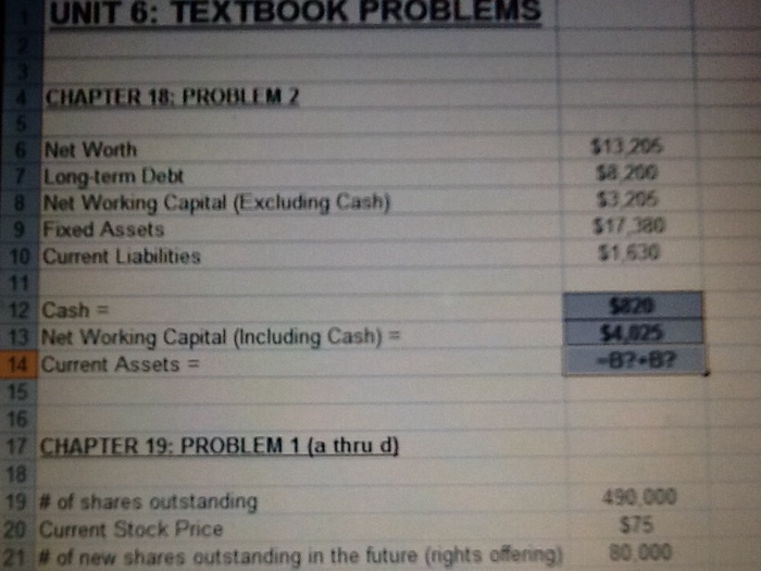 Solved: This Is The Excel Formula For Problem 2 In Chapter