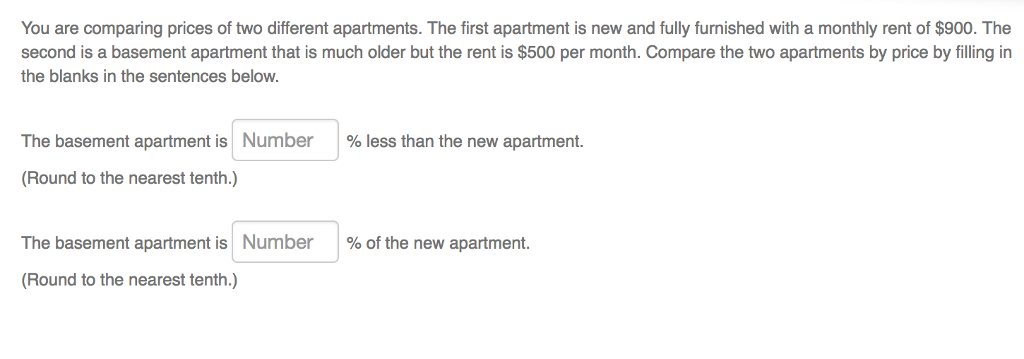 6c31eed531cf1 You are comparing prices of two different apartments. The first apartment  is new and fully