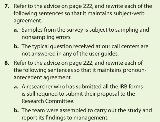 Solved Refer To The Advice On Page 222 And Rewrite Each