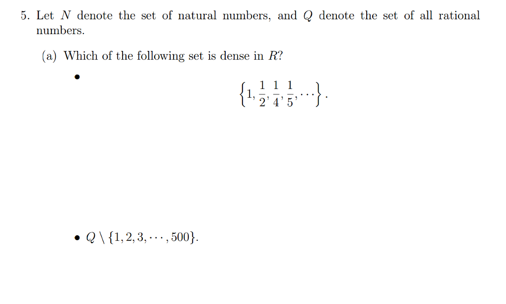 Solved Let N Denote The Set Of Natural Numbers And Q Den Chegg Com