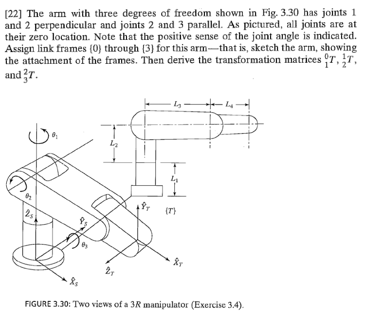 22 The Arm With Three Degrees Of Freedom Shown I