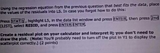 Enter the original data in l1 and l2 (that