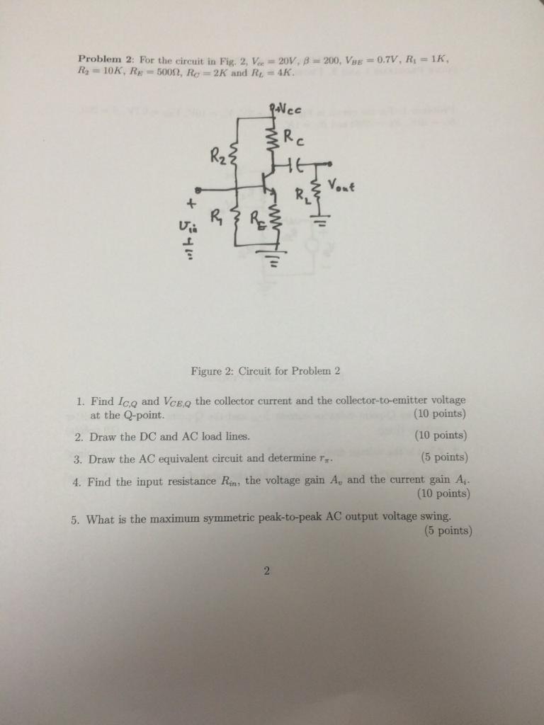 Solved Problem 2 For The Circuit In Fig Va 20v Find Equivalent Resistance Re Of S Cheggcom