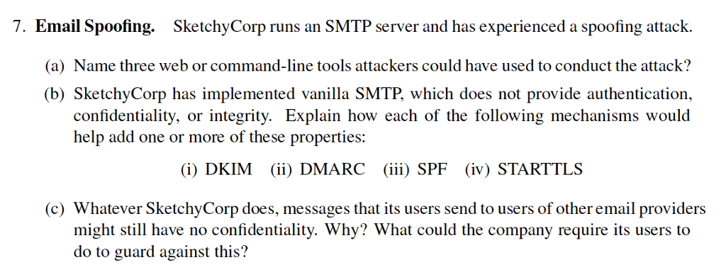 Solved: 7  Email Spoofing  SketchyCorp Runs An SMTP Server