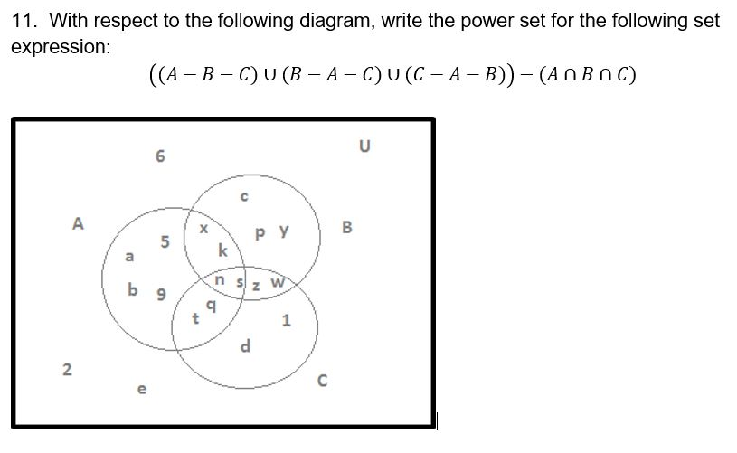 9 Draw Venn Diagrams For All The Different Ways 3 Chegg
