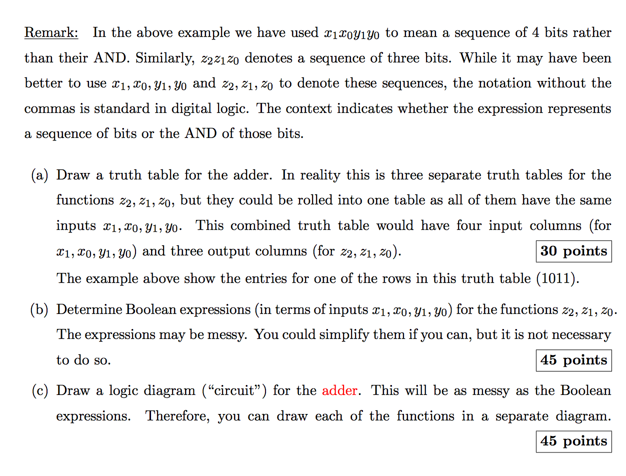 Solved Draw Truth Table Determine Boolean Expressions An Logic Diagram And A