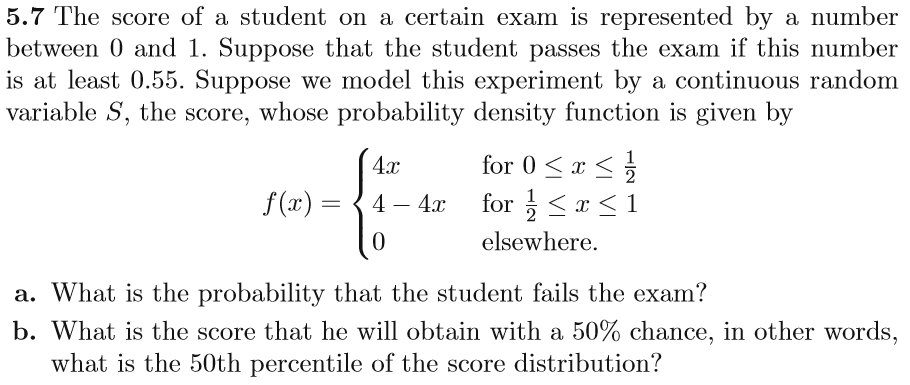 Statistics and probability archive october 05 2017 chegg 57 the score of a student on a certain exam is represented by a number between fandeluxe Image collections