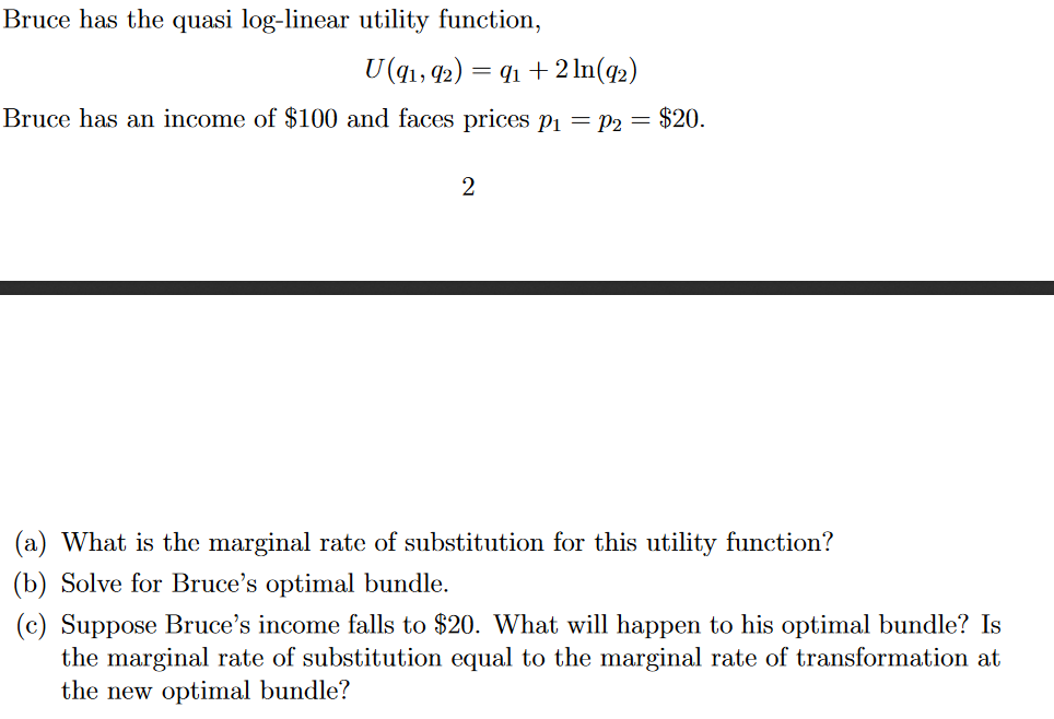 marginal rate of utility
