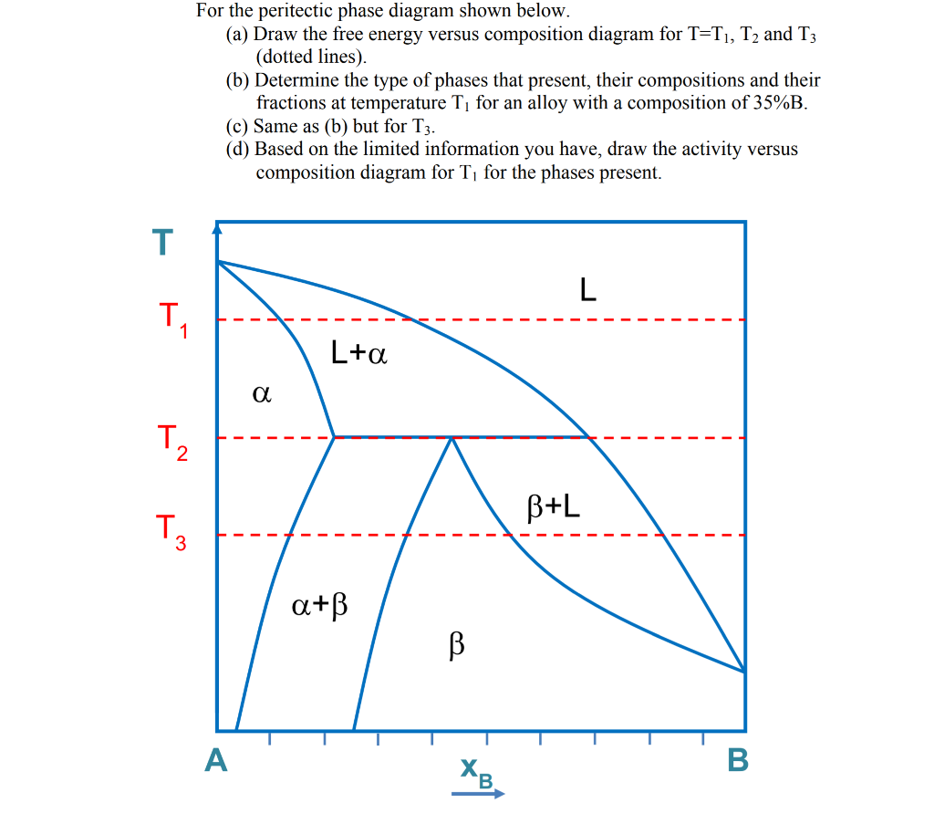 For the peritectic phase diagram shown below a chegg for the peritectic phase diagram shown below a draw the free energy versus ccuart Images
