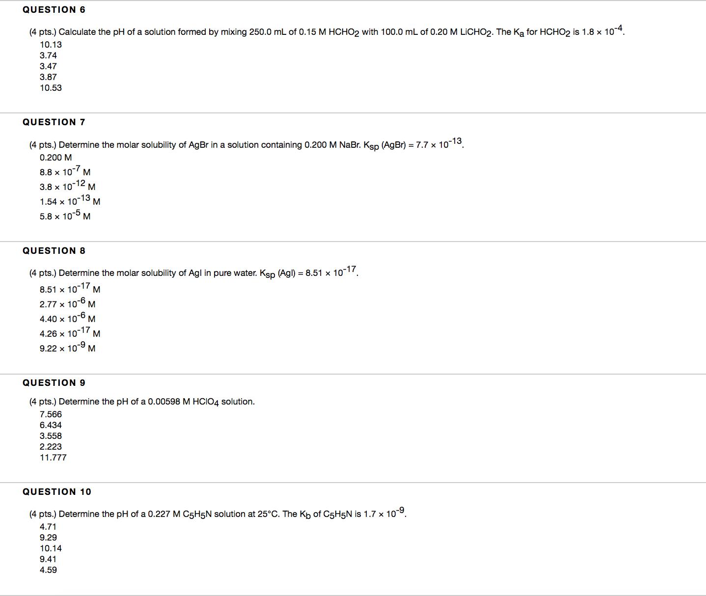 Unit 8 Homework Answers[1] | Ph | Acid