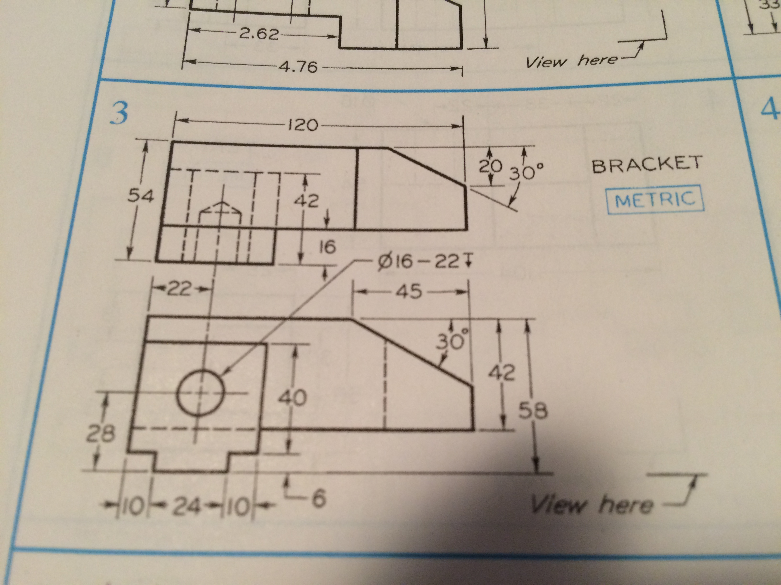 Solved: Draw Isometric Pictorials Of: 1) Orthographic Proj