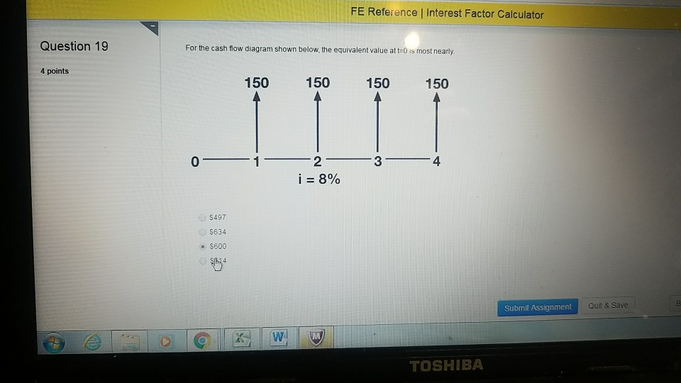 Question 19 4 points FE Reference l