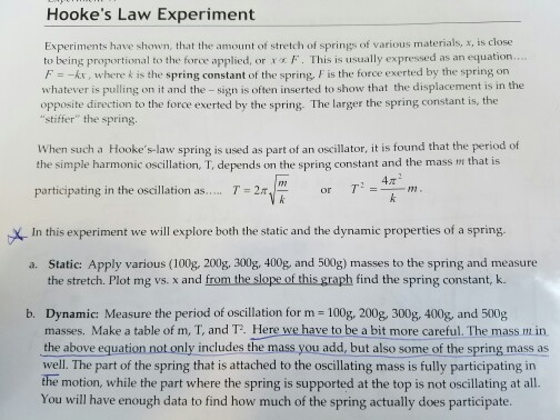 hookes law experiment