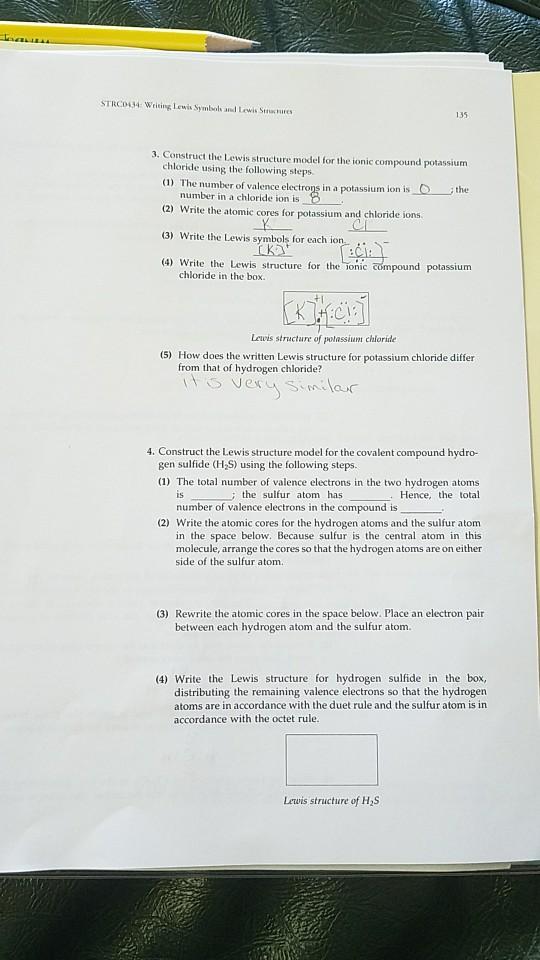 Solved Strc0434 Wrising Lewis Symbols And Lewis Stnactur